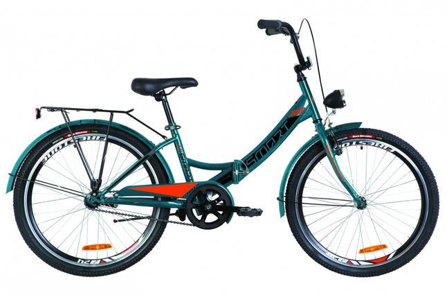 """Складной велосипед 24"""" Formula SMART с фонарём 2019 (синий с оранжевым (м)), фото 2"""