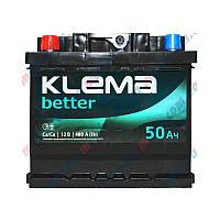 Klema (WESTA) 50 Ah (левый +)