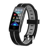 F10C Фитнес браслет тонометр давление крови для iPhone Android трекер пульсометр калории сон бег черно-серый