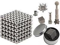 Конструктор из магнитных шариков, Неокуб Серебристый 216 шт*5мм, игрушка магнитные шарики (NS)