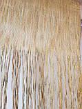 Ламбрекен Ассиметрия из нитей салотовый, горчичный, фото 4