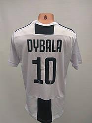 Футбольная форма взрослая в стиле Adidas Juventus Dybala чёрно-белая сезон 2018-19