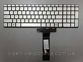 Клавіатура для ноутбука HP (Pavilion X360: 15-u series) rus, silver, без фрейму, підсвітка клавіш