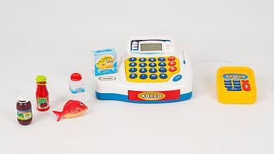 Музыкальный кассовый аппарат LIMO TOY. В наборе - калькулятор и аксессуары.