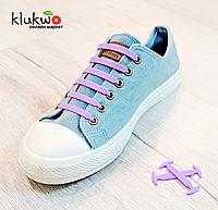 Силиконовые шнурки 8+8 (16шт/комплект) Фиолетовые