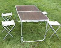 Раскладной стол и 4 стула для активного отдыха
