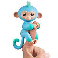 Интерактивная фигурка Фингерлингс Обезьянка Чарли голубо-зеленая WowWee Fingerlings 2Tone Monkey 3723