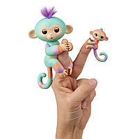 Интерактивная фигурка Фингерлингс Обезьянка Денни с обезьянкой Джианной WowWee Fingerlings Baby Monkey 3544
