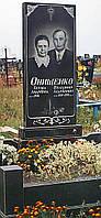 Гранитный прямоугольный памятник 120*60*5 с цветником