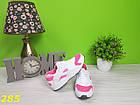 Кроссовки хуарачи бело-розовые, фото 5