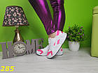Кроссовки хуарачи бело-розовые, фото 6