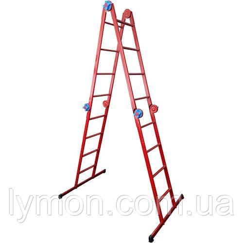 Лестница шарнирная «Трансформер» 4х4