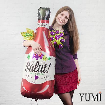 Фольгированный шар с гелием Бутылка вина Salut, фото 2
