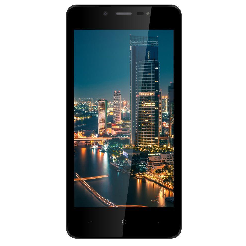 """Смартфон со сканером отпечатков пальцев и двойной камерой 5"""" 2/16Gb Bravis A512 Harmony Pro черный"""