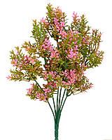 Травка с мелкими розовыми листочками (букет)