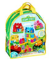 """Развивающий игровой набор """"Давайте строить"""" 70 дет Mega Bloks Lets Build Sesame Street Buildable Playset FMB08"""