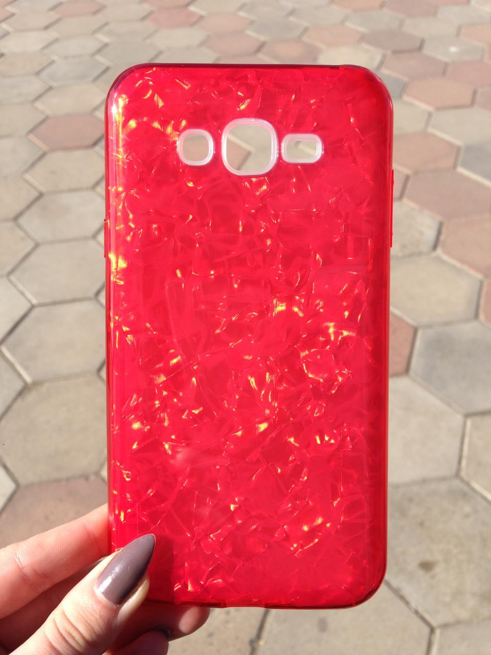 Чехол Samsung J7/Neo Red Broken Glass