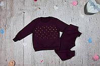 Детский костюм Жемчуг-вишня для девочки на рост 86-128 см