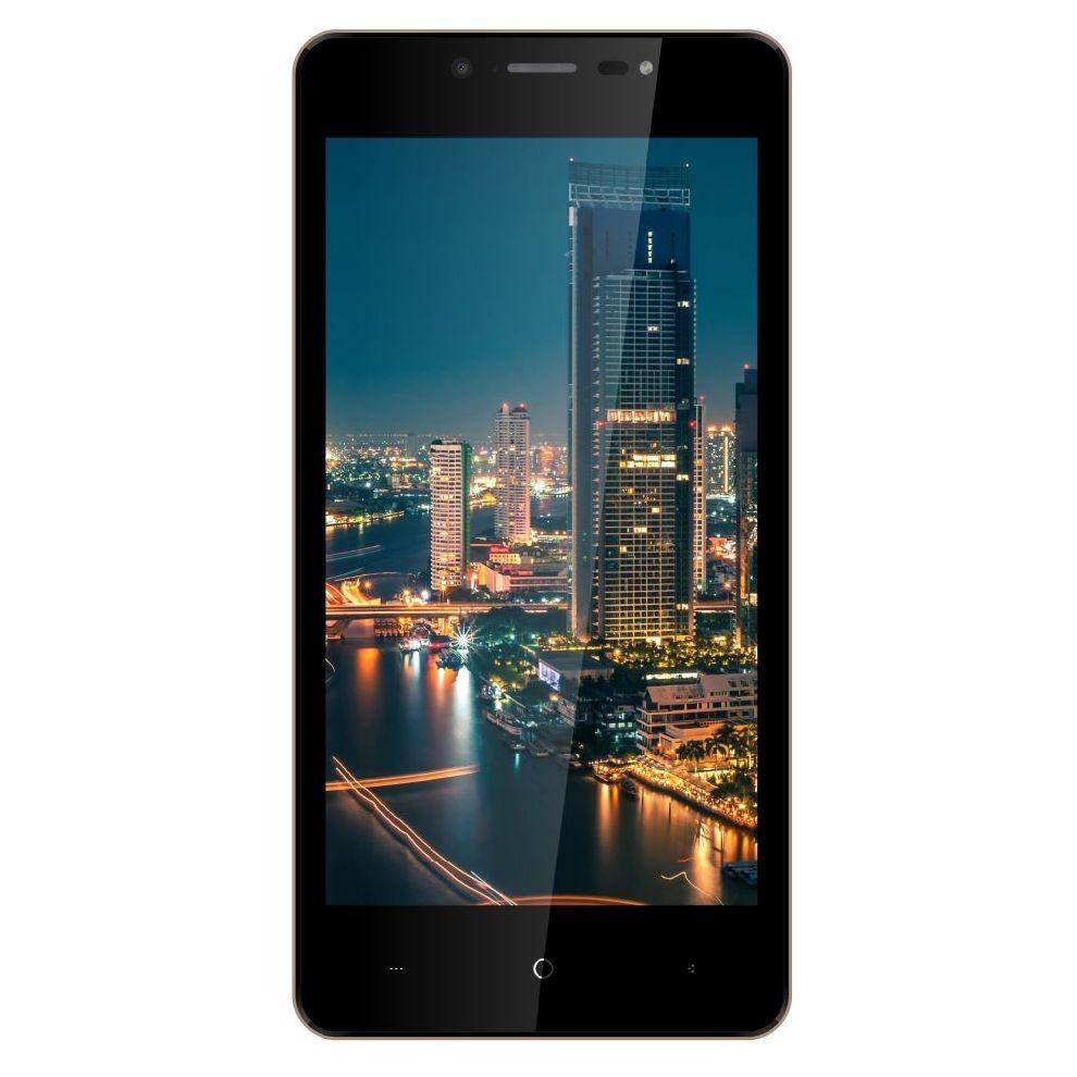"""Смартфон со сканером отпечатков пальцев и двойной камерой 5"""" 2/16Gb Bravis A512 Harmony Pro золотой"""