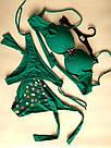 Купальник женский бандо с двумя плавками (стринги и плавки двухсторонние), фото 9
