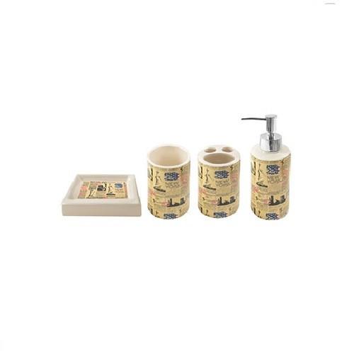 Набор аксессуаров для ванной Stenson News Yellow (R22690)