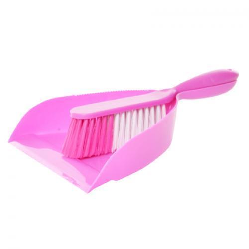 Совок и щетка для уборки Stenson 33 х 21 см Pink (E04818)