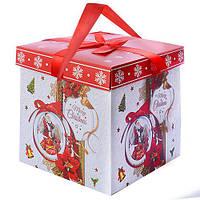 Коробка подарочная Stenson Merry Christmas 29 х 29 см (R87115)