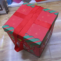 Коробка подарочная Stenson Santa 29 х 29 см (R87113)