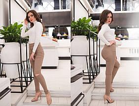 """Стильные джинсовые леггинсы """"CALIOPE"""" с разрезами на коленях (8 цветов), фото 2"""