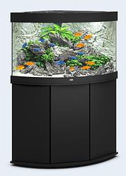 Аквариум угловой большой Juwel (Джувел) TRIGON 350 LED, черный 350 литров