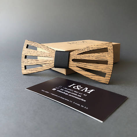 Галстук-бабочка I&M Craft из дерева (011218), фото 2