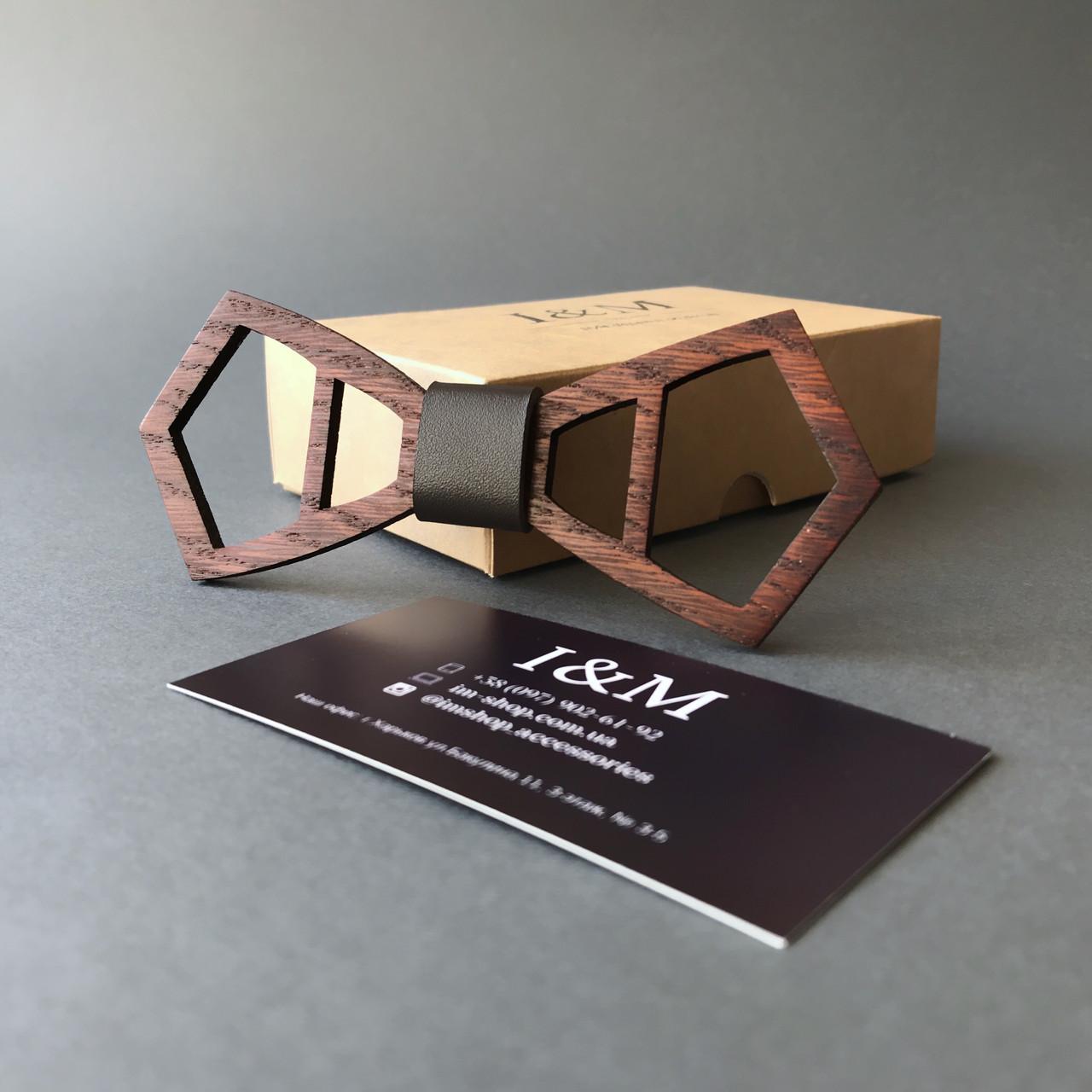 Галстук-бабочка I&M Craft из дерева (110023)