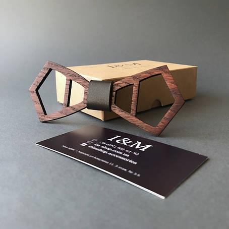 Галстук-бабочка I&M Craft из дерева (110023), фото 2