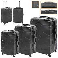 Набор чемоданов STN R17729 Black (R17729)