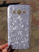 Чехол Samsung J5 J500 2015 Silver Broken Glass