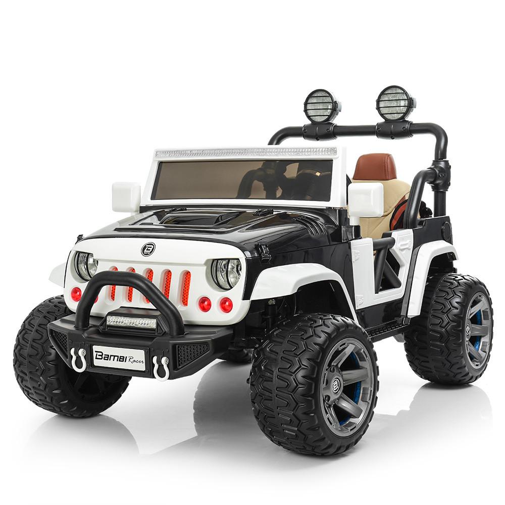 Электромобиль Bambi Jeep Wrangler M 3673EBLR-2-1 Black/White (M 3673EBLR)