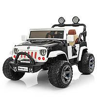 Электромобиль Bambi Jeep Wrangler M 3673EBLR-2-1 Black/White (M 3673EBLR), фото 1