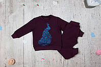 Детский костюм Павлин-вишня для девочки на рост 86-128 см