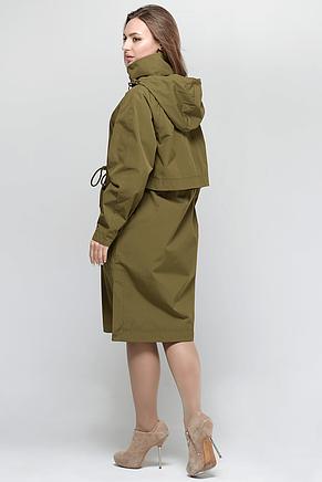 Стильная женская куртка тренчкот СW18C033FW хаки, фото 2