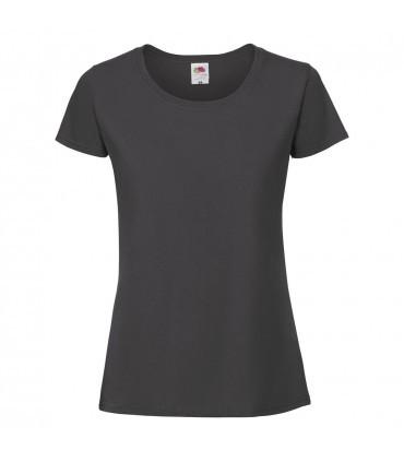 Женская футболка плотная темно серая 424-ГЛ