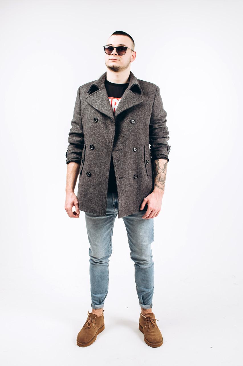 Пальто мужское из шерсти диагональ М1