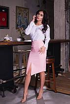 """Асимметричная женская юбка-карандаш """"DANA"""" с завышенной талией (5 цветов), фото 3"""