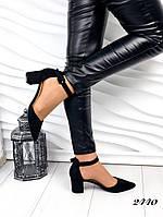 Жіночі відкриті туфлі, невисокий каблук, фото 1