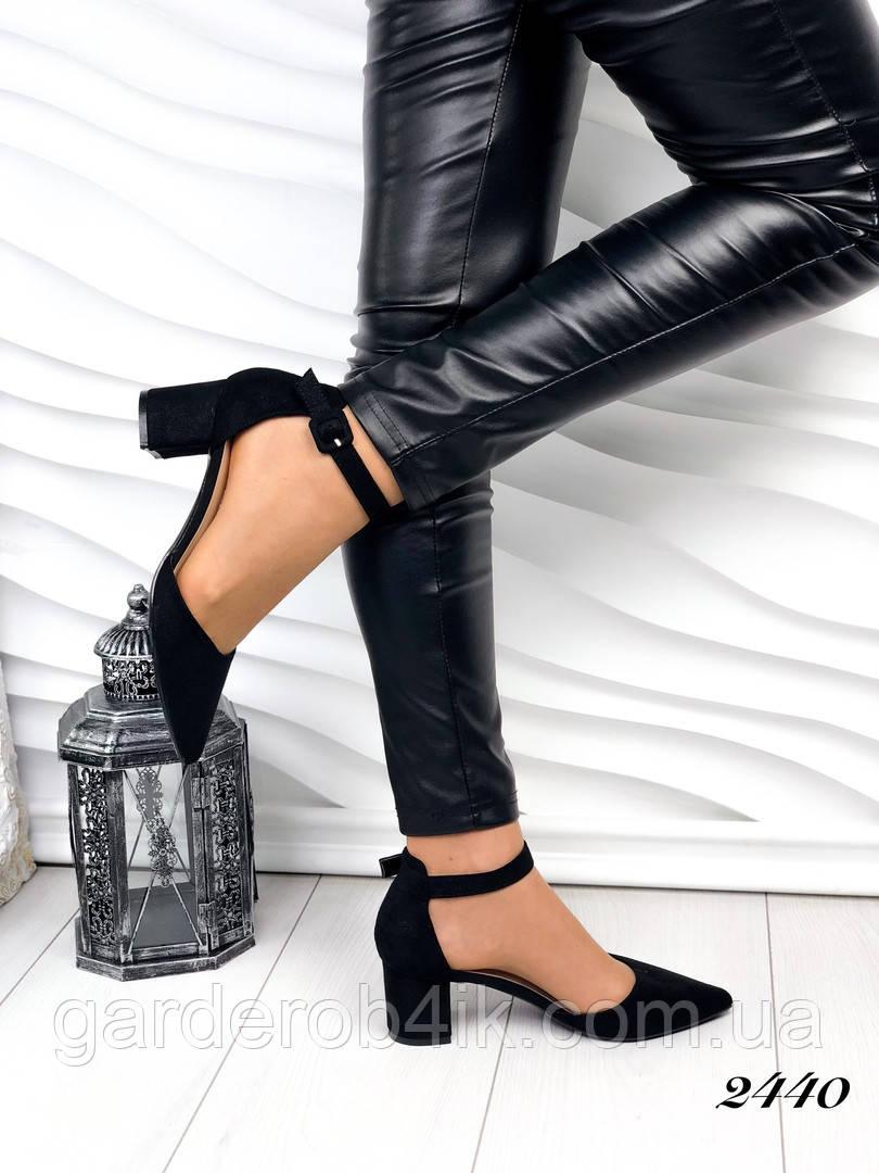 Жіночі відкриті туфлі, невисокий каблук