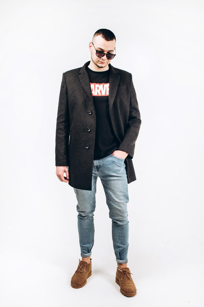 Пальто мужское из шерсти диагональ М3