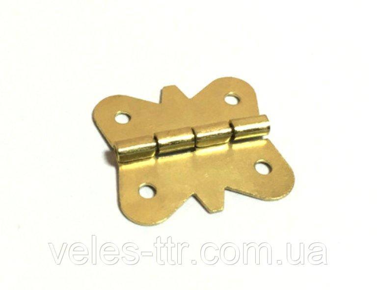 Петля для шкатулок золото 18х17 мм 270º универсальная
