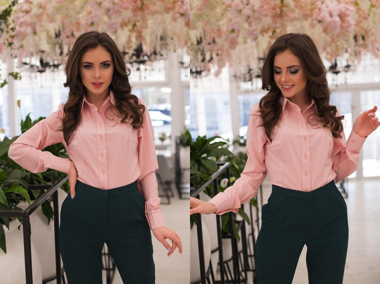 """Классическая женская рубашка """"Calliope"""" с длинным рукавом (11 цветов)"""