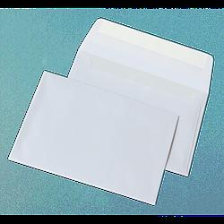 Конверт С6 білий склеєний  (114х162мм)
