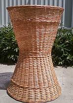Плетені багетница з лози для французьких булок, батонів (висота 80, верх 55, низ 55, глибина 55)