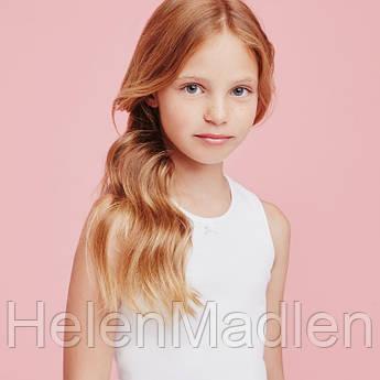 Майка хлопковая Ellepi детская для девочки белая 110 см Италия